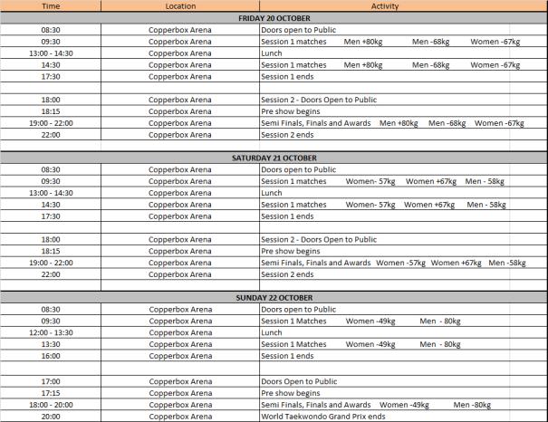 GP public timetable