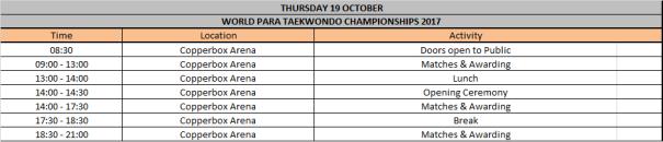 Para public timetable