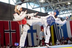 Olympic medallist Jade Jones in action.