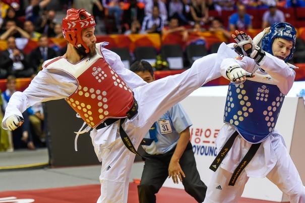World Taekwondo Championships 2015, Damon Sansum, Silver, rights free c-o GBTaekwondo (1)